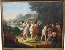 """Large 18th C. Old Master Painting """"Peace Festival"""""""