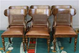 6 Signed Ralph Lauren Leather Chairs