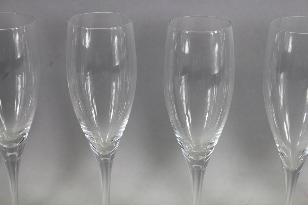 Set of (10)  Baccarat Montaigne Optic Stemware - 2