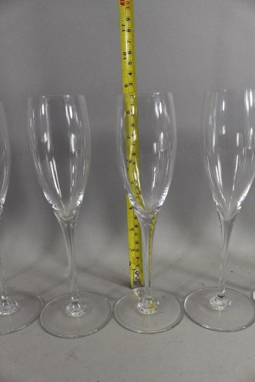 Set of (10)  Baccarat Montaigne Optic Stemware - 4
