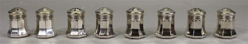 8 Cartier Sterling Silver Salt & Pepper Shakers
