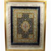 Fine Antique Jeweled Indian Tapestry, Framed