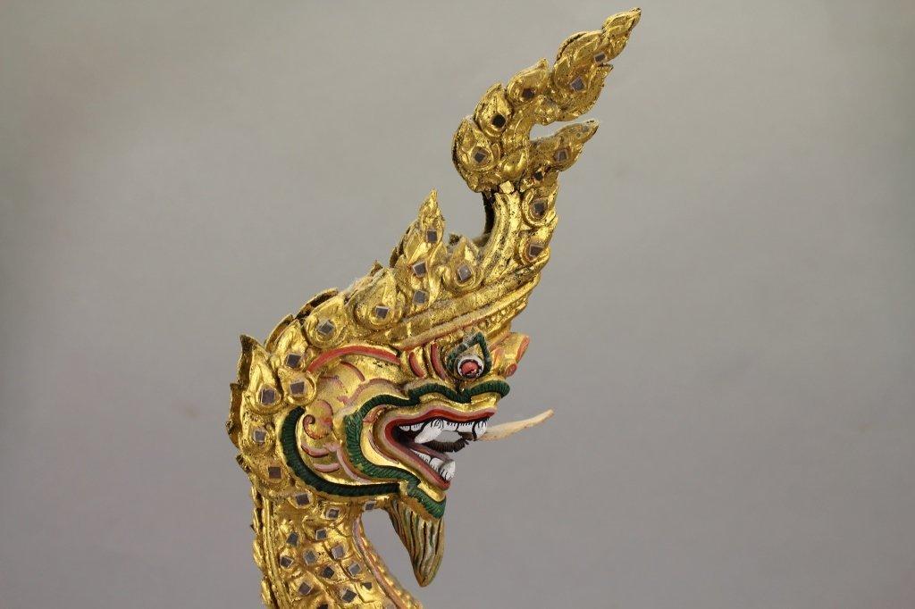 20th C. Thai Khon Mask on Stand - 4