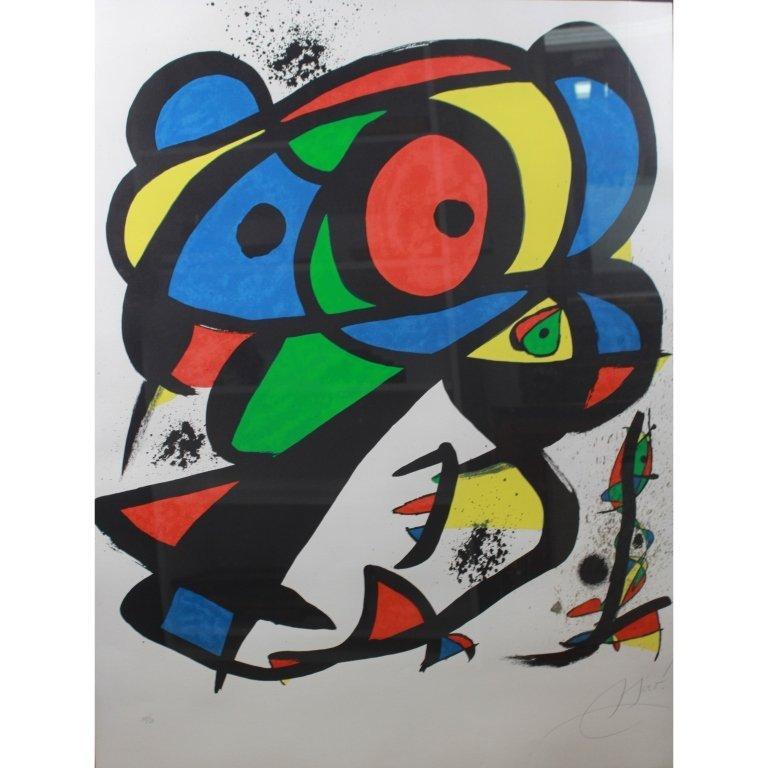Joan Miro  (1893 - 1983) Lithograph, 11/50