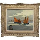 Jane Peterson (1876 - 1965) Venice Boats, Italy