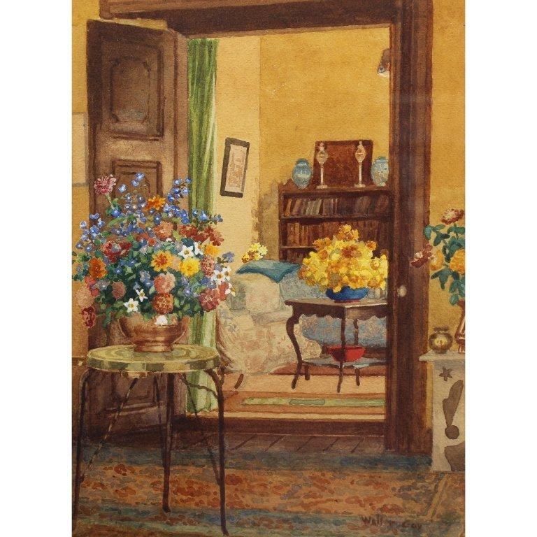 Walter Gay  (1856 - 1937) Watercolor