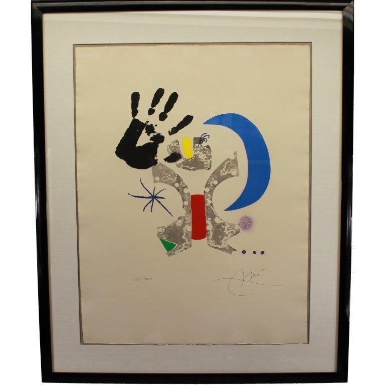 Joan Miro  (1893 - 1983) Colored Etching