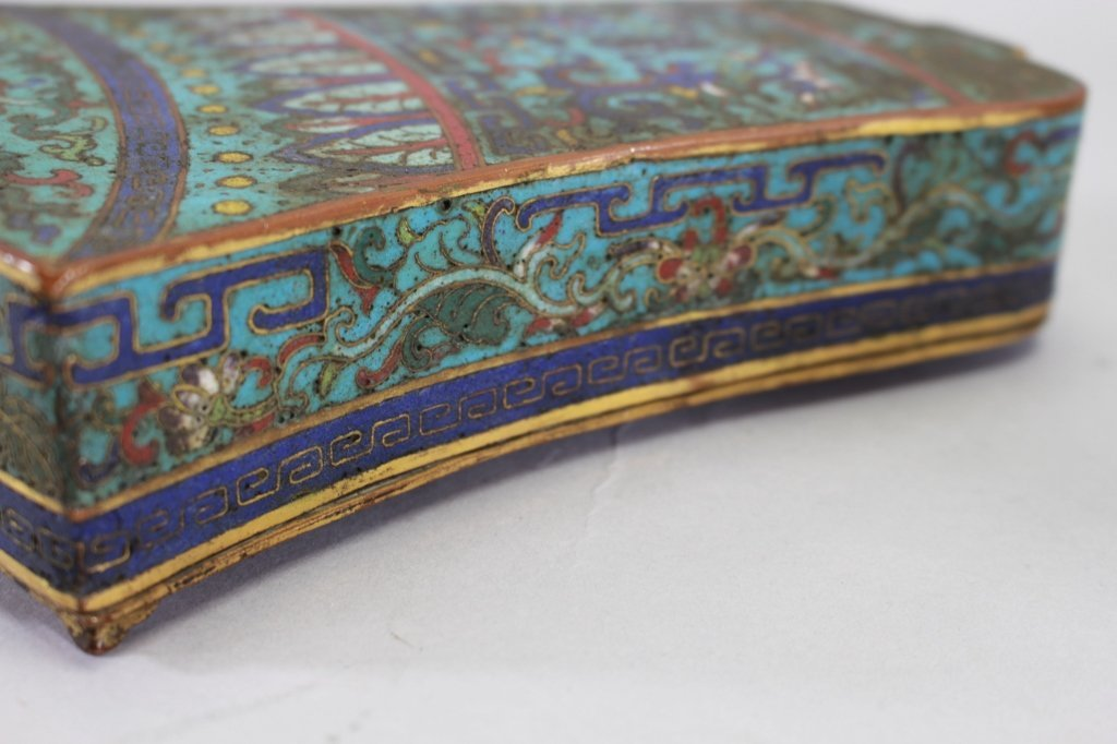 Qing Dyn. Chinese Cloisonne Box, Bell Form - 2