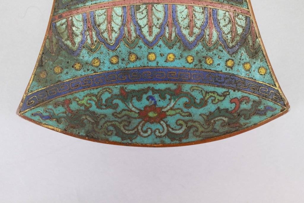Qing Dyn. Chinese Cloisonne Box, Bell Form - 4