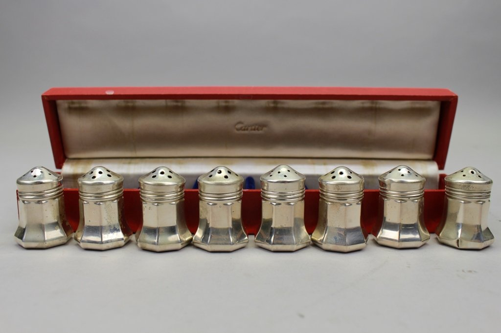 (8) Cartier Sterling Silver Salt/Pepper Shakers