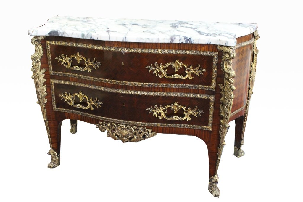 Important Louis XV Style Bronze Mounted Commode