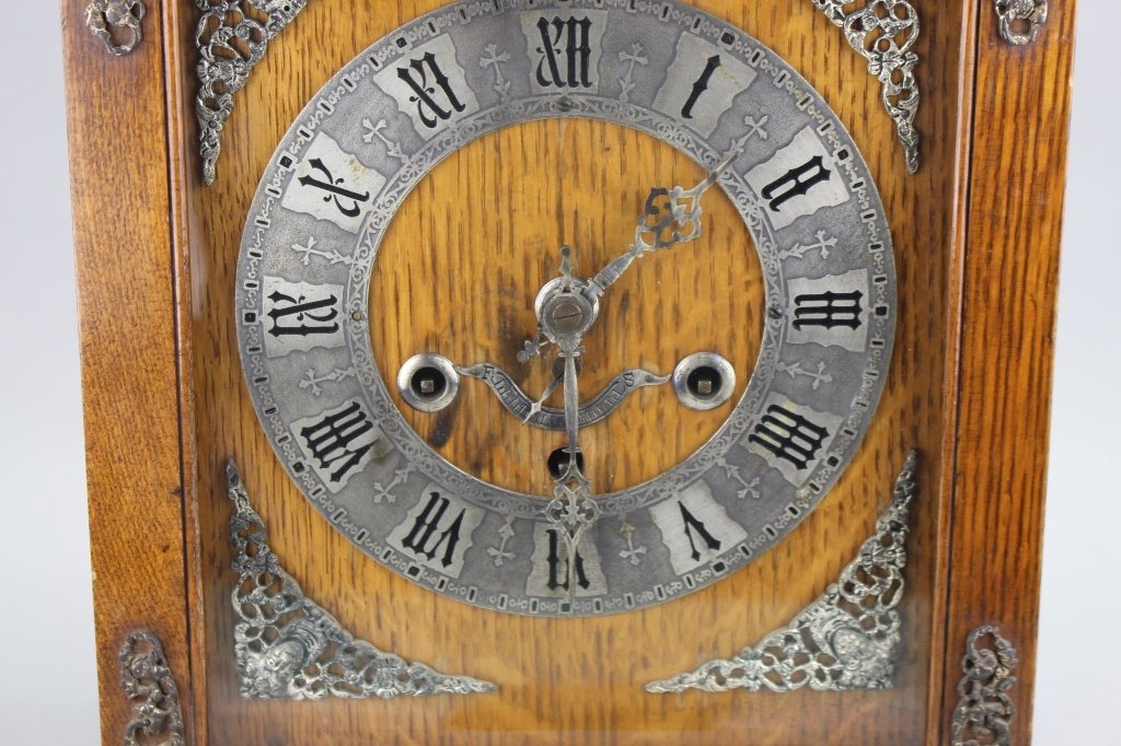 Antique Footed English Mantel Clock - 2