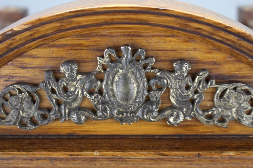 Antique Footed English Mantel Clock - 3