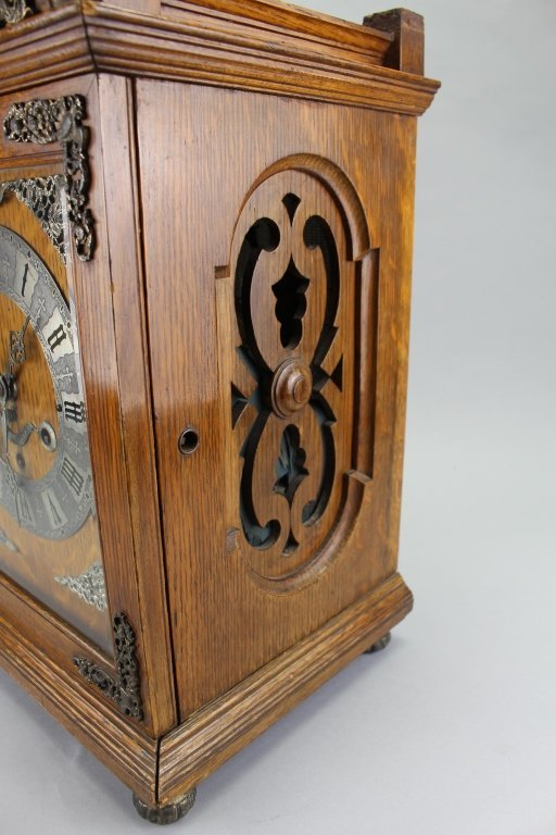 Antique Footed English Mantel Clock - 4