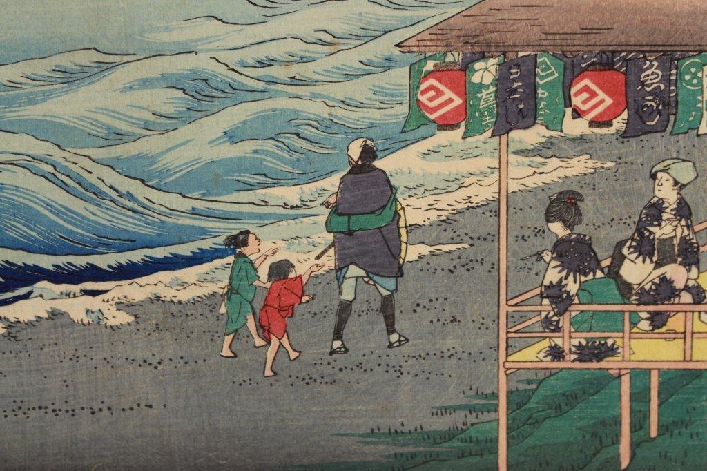 Hiroshige Japanese Woodblock Print - 5