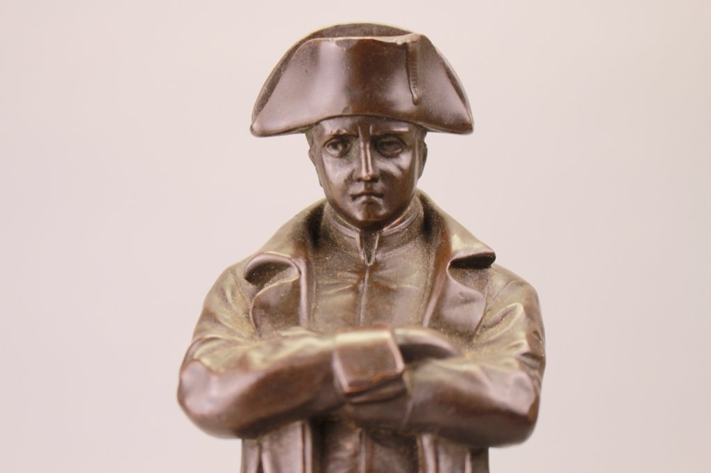 Antique Bronze Napoleon Figure on Marble Base - 2