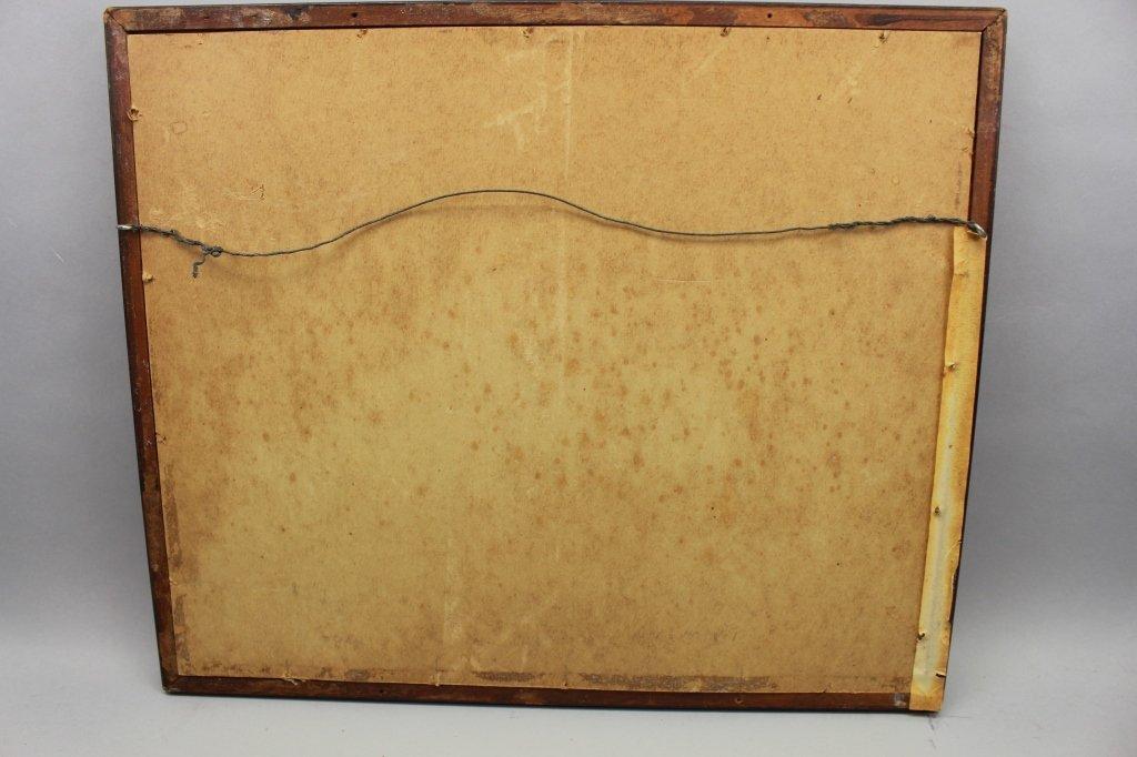 Antique Framed Japanese Woodblock - 4