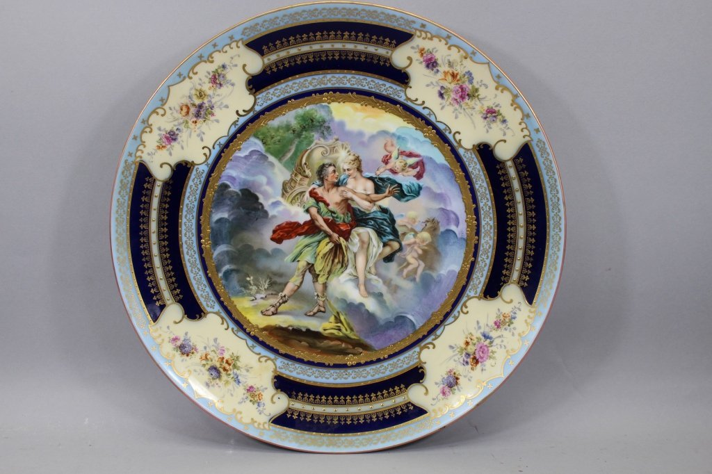 Antique Austrian Royal Vienna Allegorical Charger - 8
