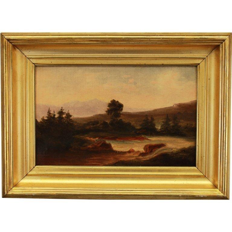 Hulbert, Signed Hudson River School Landscape
