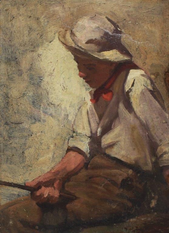 WPA School, Boy with Fishing Pole