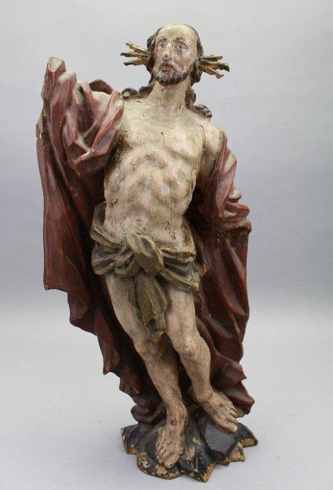 18th C. Italian Carved Santos, Jesus