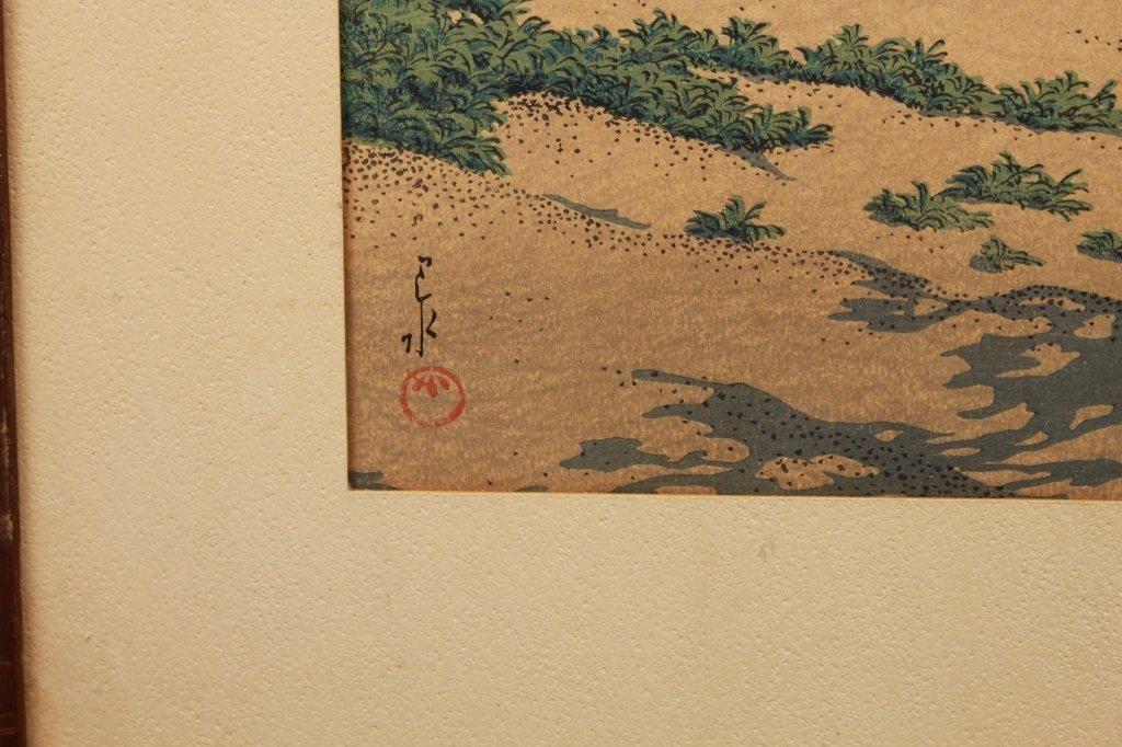 Antique Japanese Woodblock, Fuji from Mito - 3