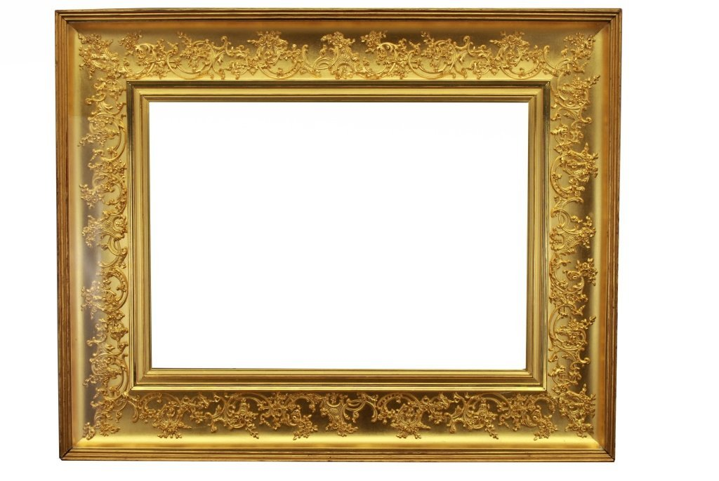 Antique Continental Gold Leaf Frame