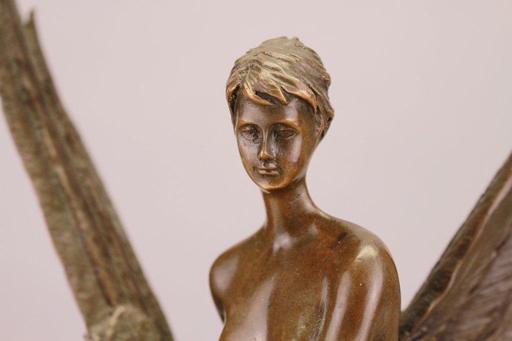 Signed  Allegorical Bronze Sculpture - 2