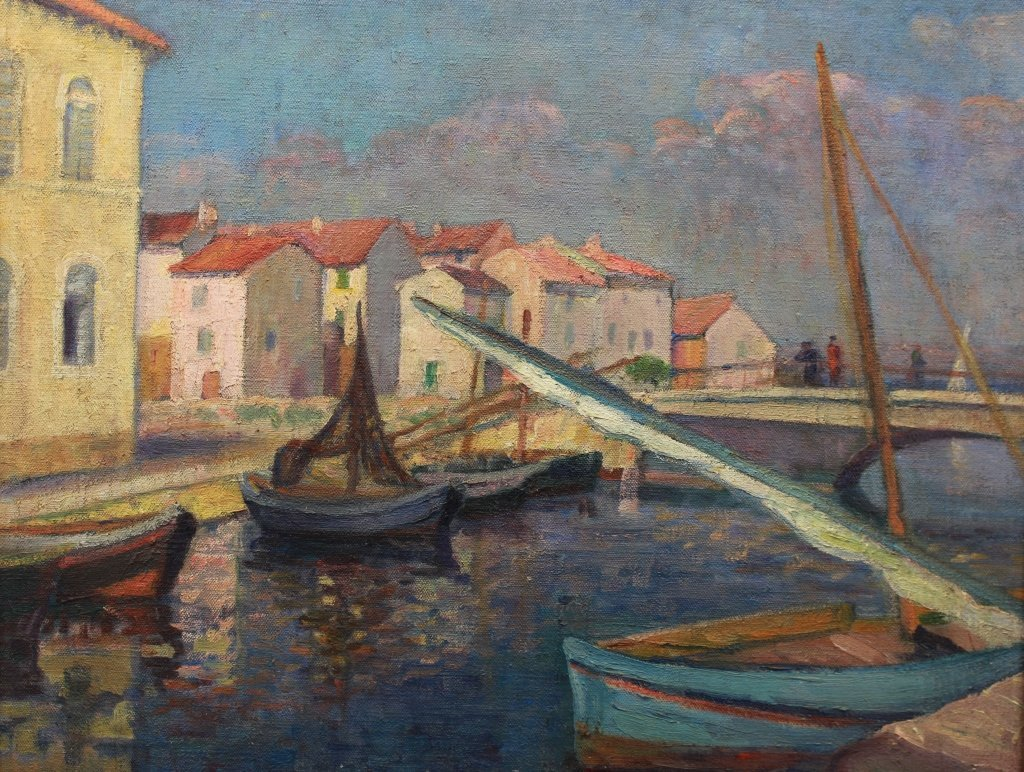 G. Bricard French 20th C Pont De Breson, Martigues - 2