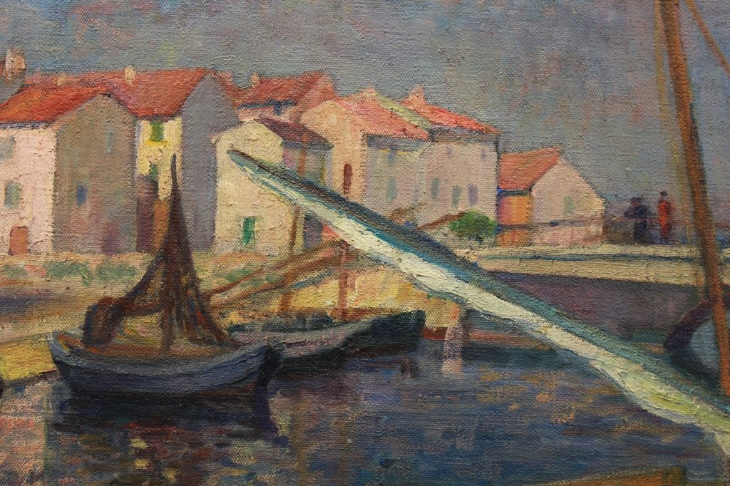 G. Bricard French 20th C Pont De Breson, Martigues - 3
