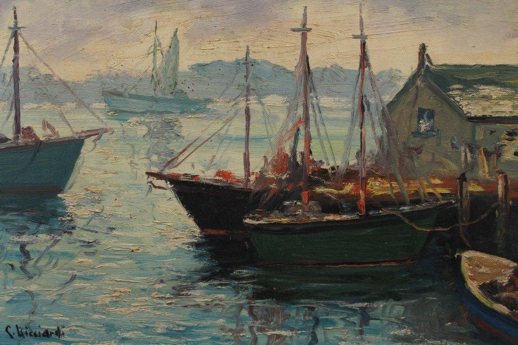 Cesare Ricciardi  (1892 - 1973) Harbor Scene - 2