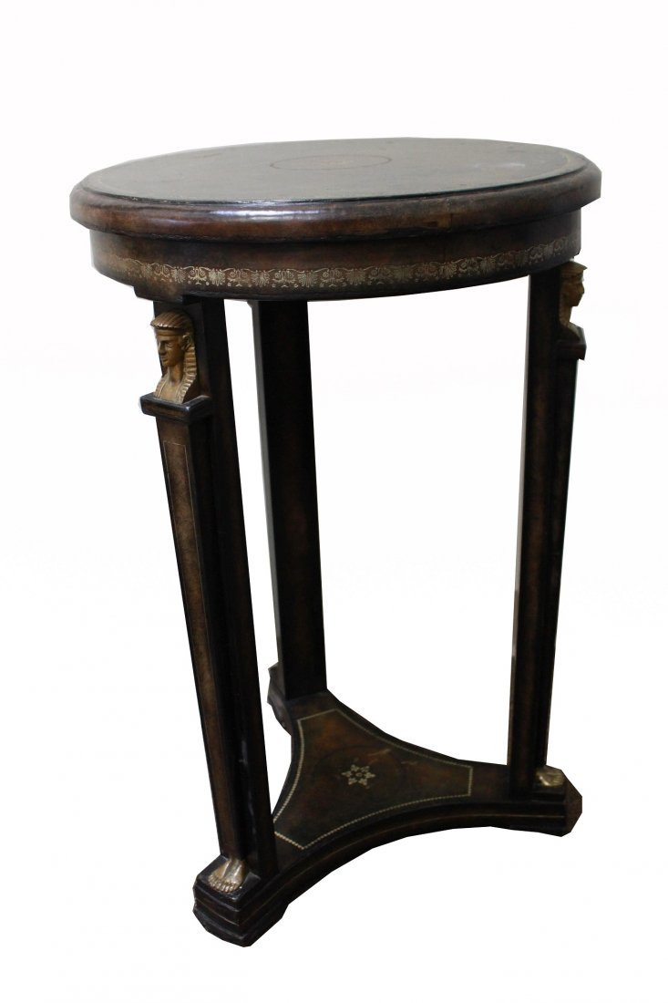 Maitland Smith Egyptian Revival Style Side Table