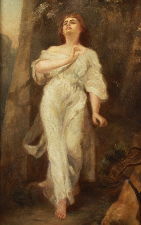19th C. European School,Painting of Woman in Gown - 2