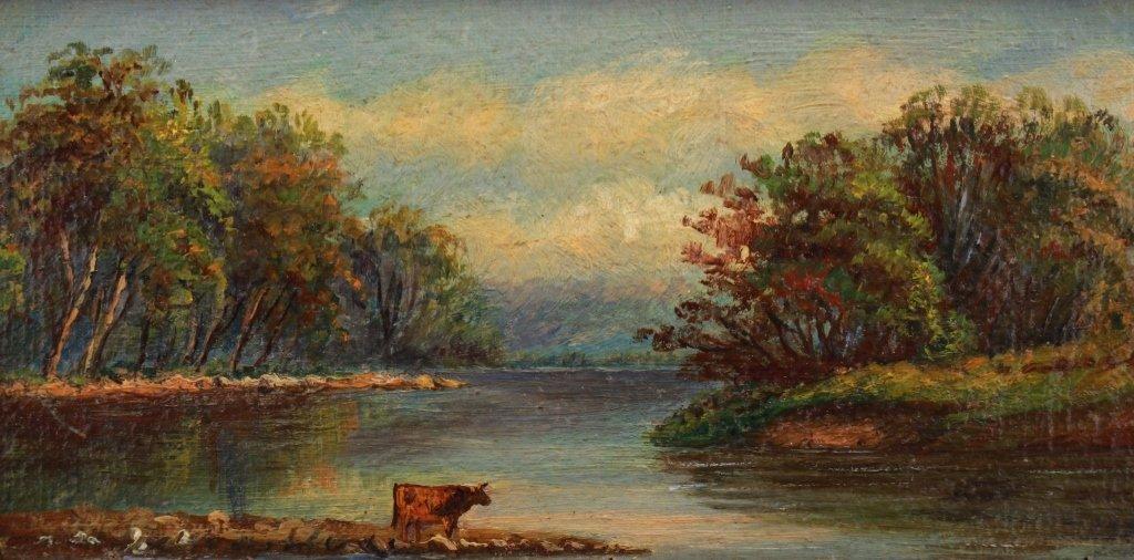 8American School Bucolic River Landscape - 2
