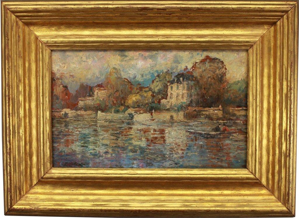 Antique American Impressionist Scene
