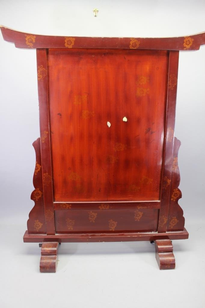 Finely Carved Meiji Period Japanese Fire Screen - 8