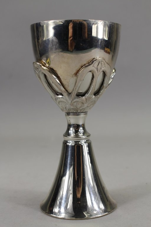 Antique Silverplate/Gilt Judaica Chalice