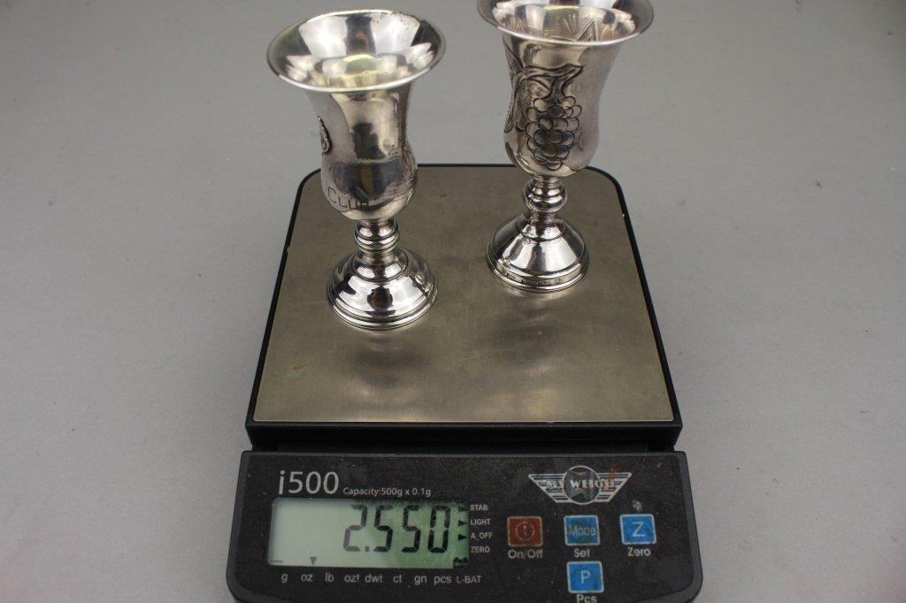 (2) Silver Kiddish Cups - 5