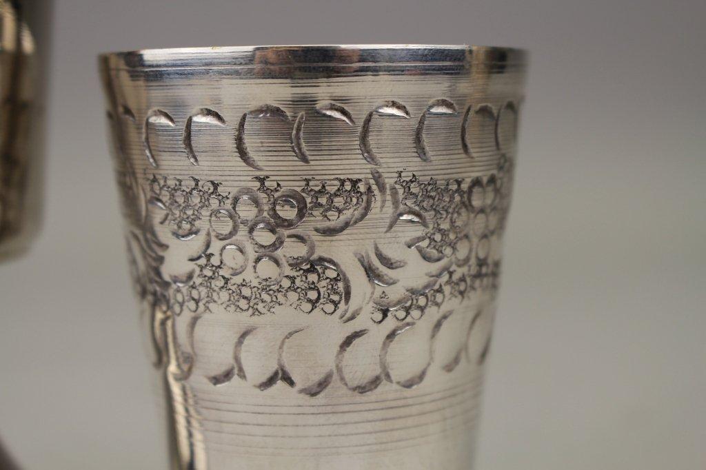 (2) Silver Plate Judaica Cups - 2