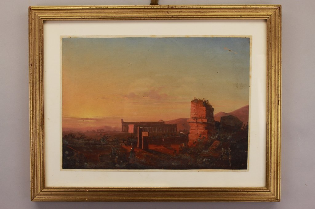 Signed 19th C. European Luminous Scene w/ Figures - 4