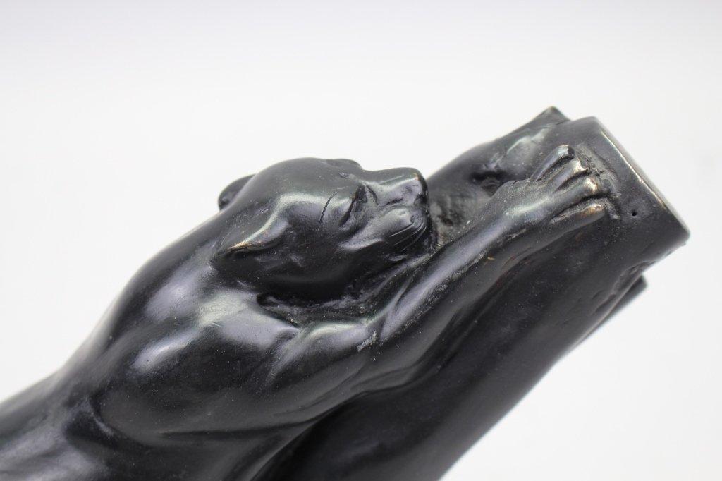 Signed Metal Sculpture of Jaguar - 2