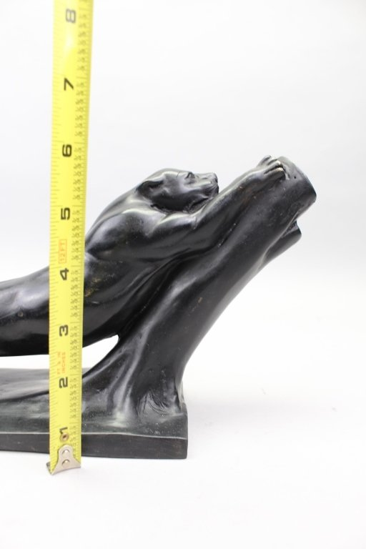 Signed Metal Sculpture of Jaguar - 3