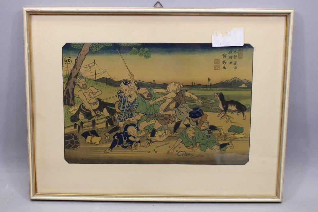 Antique Japanese Woodblock - 3