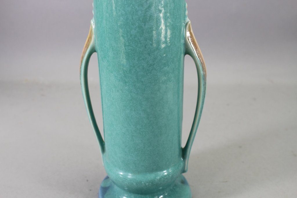 Vintage Double Handled Orion Pottery Vase - 2
