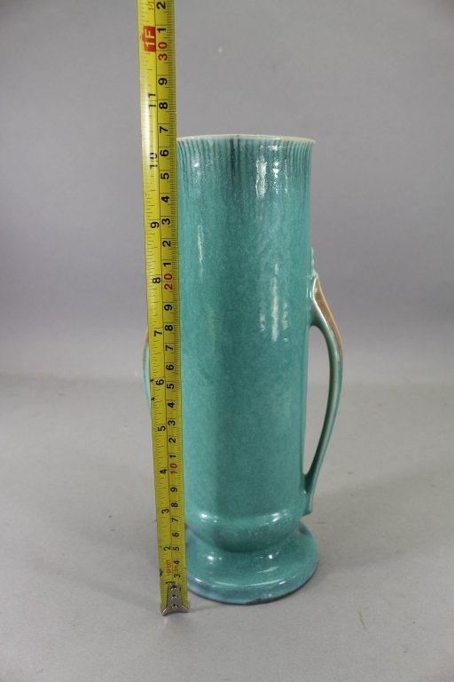 Vintage Double Handled Orion Pottery Vase - 5