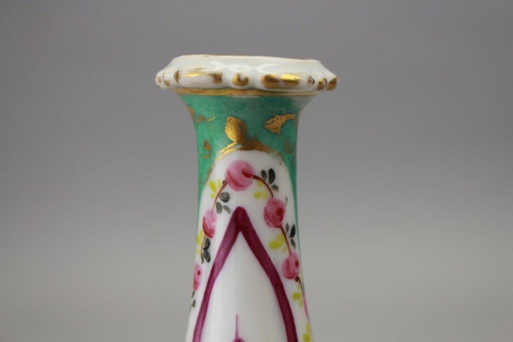 Pair, Antique French Porcelain Vases - 2