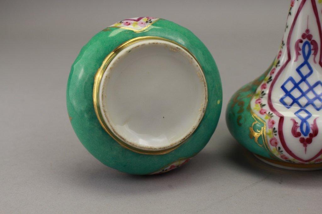 Pair, Antique French Porcelain Vases - 4