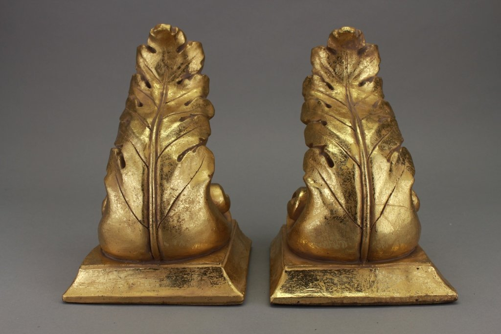 20th C. Set of Acanthus Leaf Form Bookends
