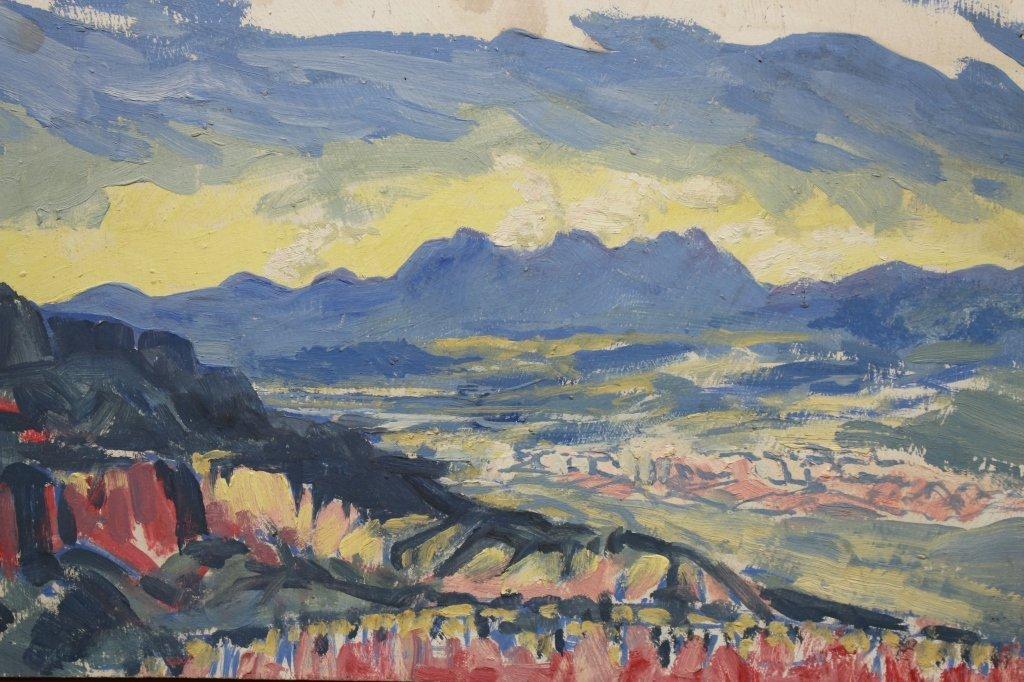 20th C. Santa Fe NM Impressionist scene