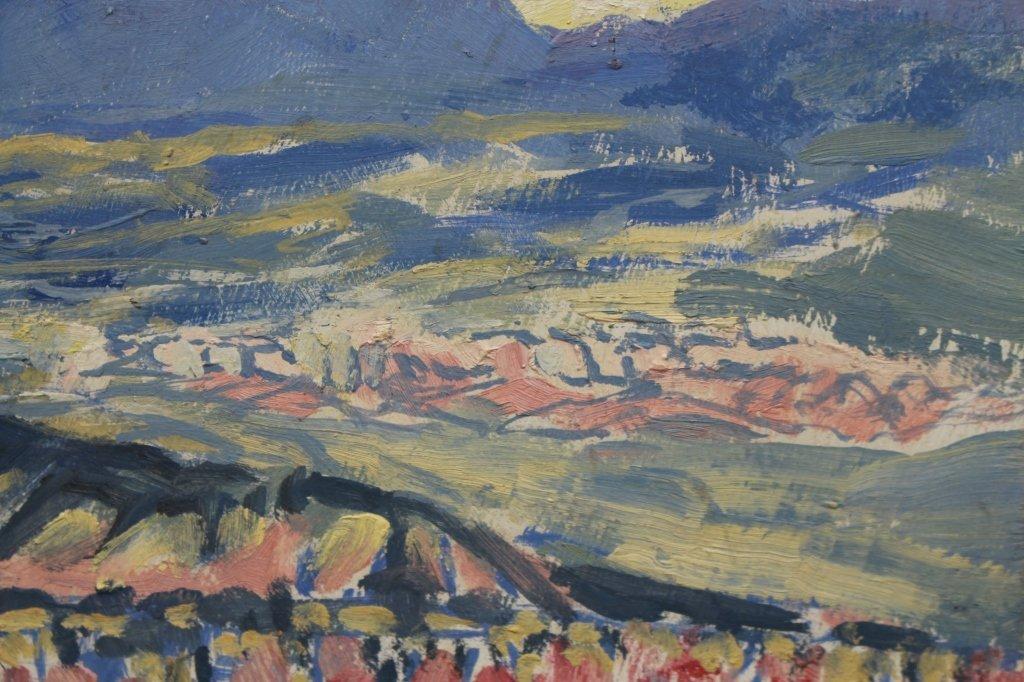 20th C. Santa Fe NM Impressionist scene - 2